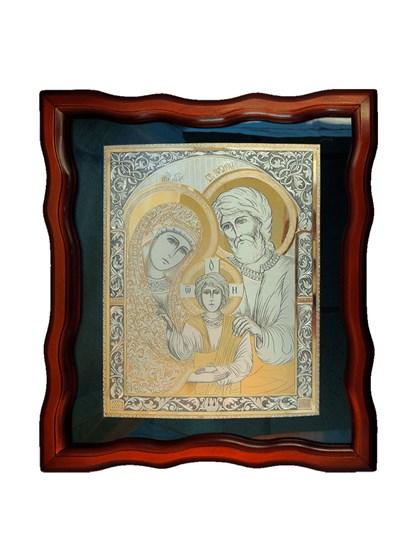 Икона серебряная Святое Семейство - фото 20662