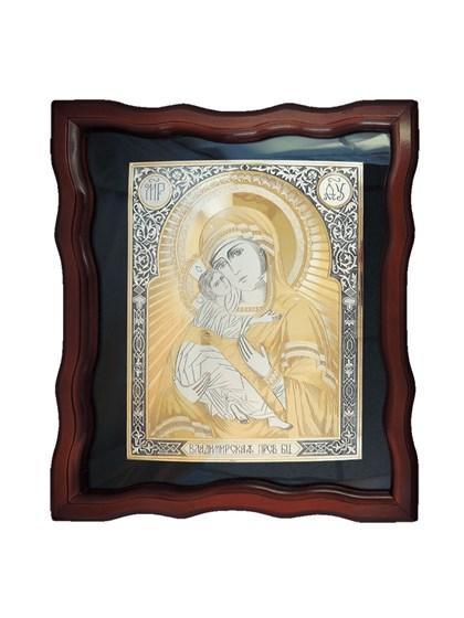 Икона серебряная Пресвятой Богородицы Владимирская - фото 20664