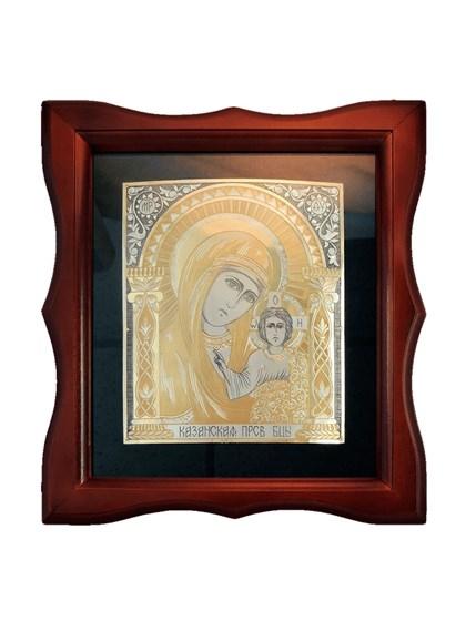 Икона серебряная Пресвятой Богородицы Казанская - фото 20668