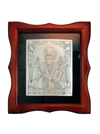Икона серебряная Николай Чудотворец - фото 20670