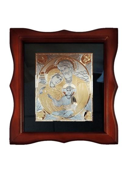 Икона серебряная Святое Семейство - фото 20672