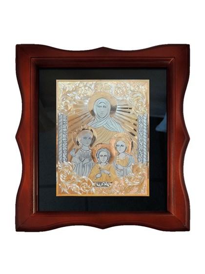 Икона серебряная Вера, Надежда, Любовь и мать их София - фото 20674