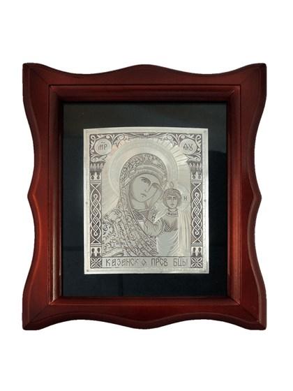 Икона серебряная Пресвятой Богородицы Казанская - фото 20678