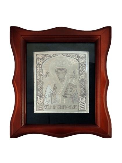 Икона серебряная Николай Чудотворец - фото 20680