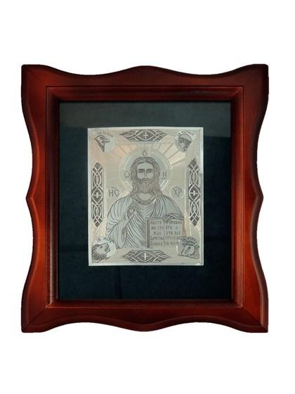 Икона серебряная Спаситель - фото 20684