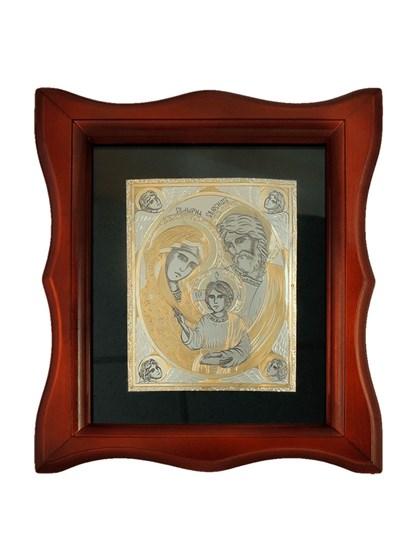 Икона серебряная Святое Семейство - фото 20686