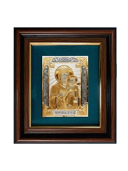 Икона серебряная Пресвятой Богородицы Иверская - фото 20701