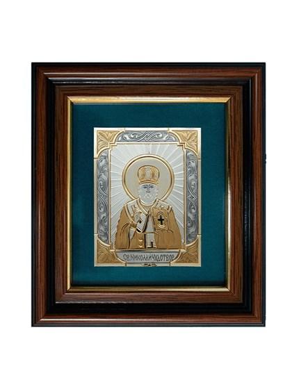 Икона серебряная Николай Чудотворец - фото 20710