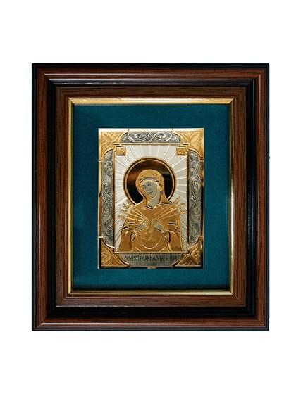 Икона серебряная Пресвятой Богородицы Семистрельная - фото 20713