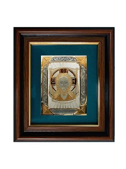Икона серебряная Спас Нерукотворный - фото 20719