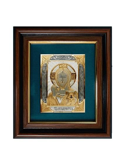 Икона серебряная Господь Вседержитель - фото 20725