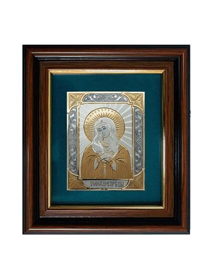 Икона серебряная Пресвятой Богородицы Умиление - фото 20728