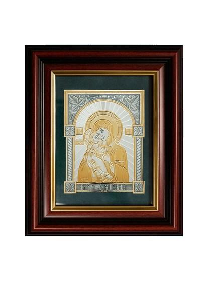 Икона серебряная Пресвятой Богородицы Владимирская - фото 20734
