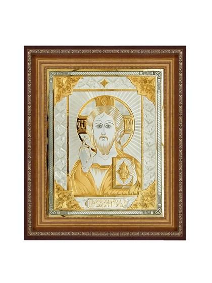 Икона серебряная Господь Вседержитель - фото 20743