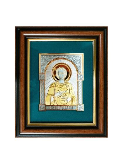 Икона серебряная Целитель Пантелеймон - фото 20758