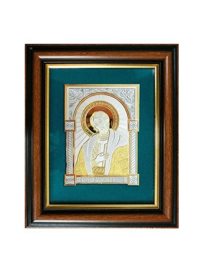 Икона серебряная Святой князь Александр Невский - фото 20785