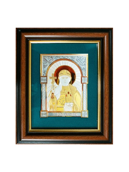 Икона серебряная Святая равноапостольная княгиня Ольга - фото 20791
