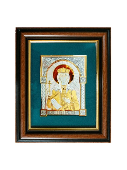 Икона серебряная Святая равноапостольная царица Елена - фото 20794