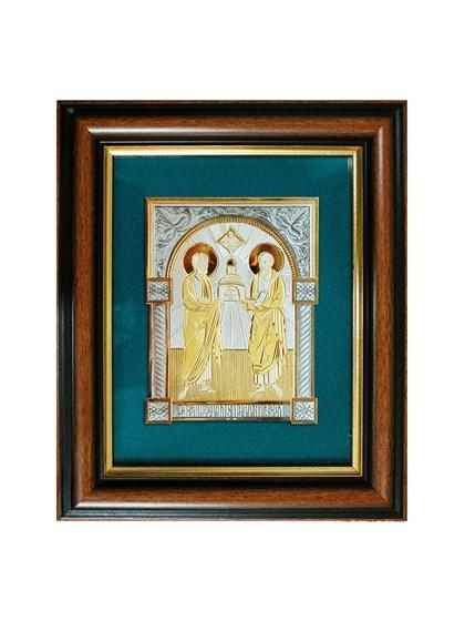 Икона серебряная Святые Апостолы Петр и Павел - фото 20797