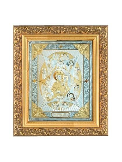 Икона серебряная Неопалимая Купина - фото 20803