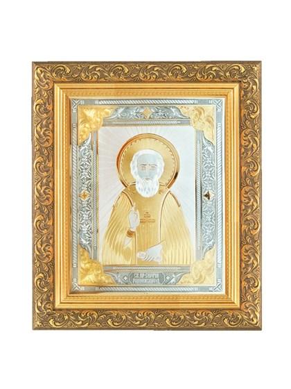 Икона серебряная Сергий Радонежский - фото 20809