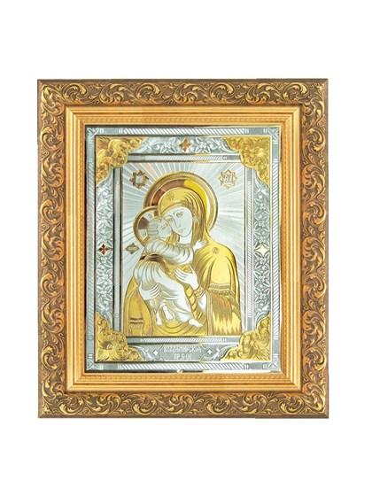 Икона серебряная Пресвятой Богородицы Владимирская - фото 20812