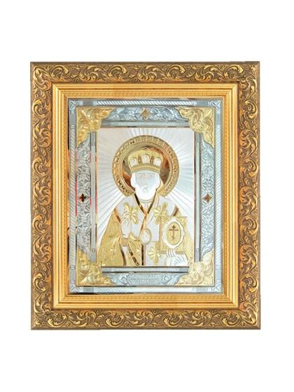 Икона серебряная Николай Чудотворец - фото 20818