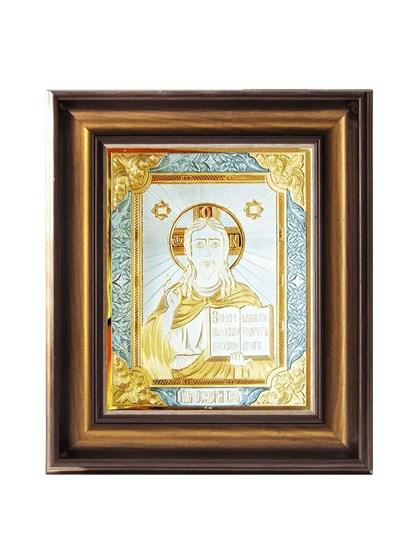 Икона серебряная Господь Вседержитель - фото 20824
