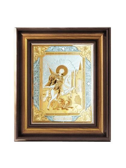 Икона серебряная Георгий Победоносец - фото 20827