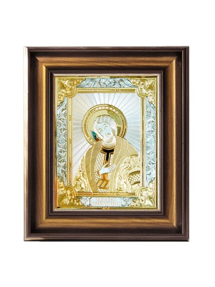 Икона серебряная Святой князь Александр Невский - фото 20833