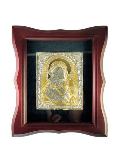 Икона серебряная Пресвятой Богородицы Владимирская - фото 20940