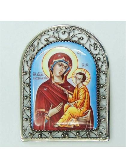 Икона финифть Пресвятая Богородица Тихвинская - фото 20965