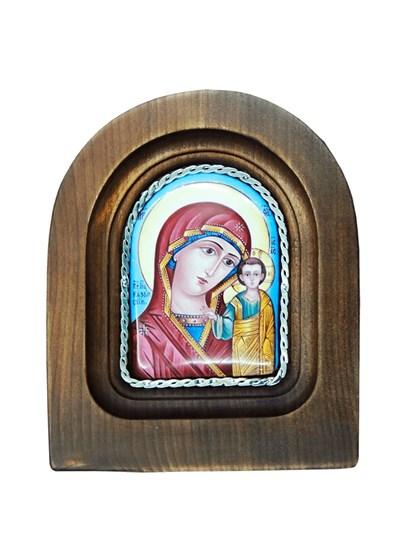Икона финифть Пресвятая Богородица Казанская - фото 20976