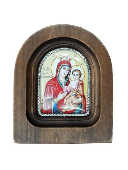 Икона финифть Пресвятая Богородица Скоропослушница - фото 20977