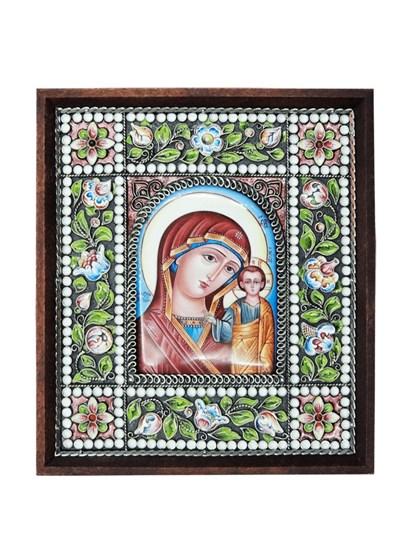 Икона финифть Пресвятая Богородица Казанская - фото 20979