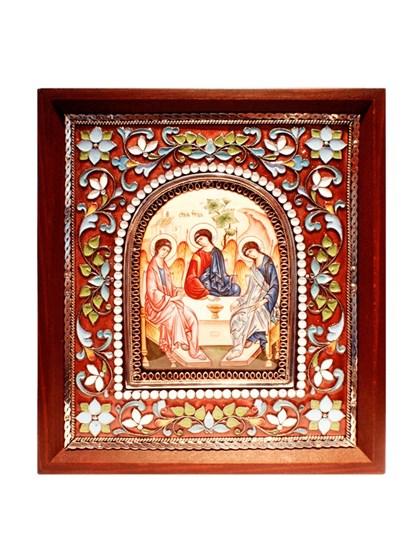 Икона финифть Святая Троица - фото 20980