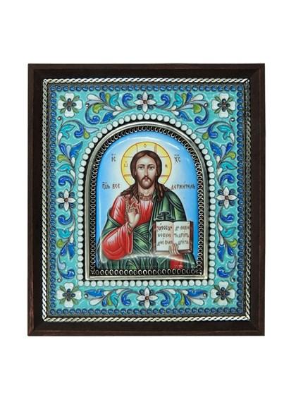 Икона финифть Господь Вседержитель - фото 20982