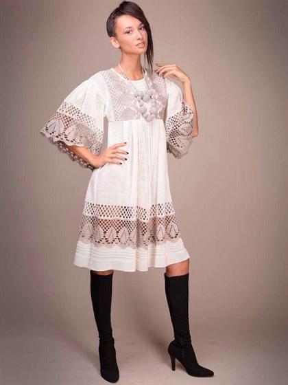Платье льняное - фото 21027