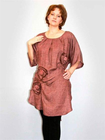 Платье льняное - фото 21183