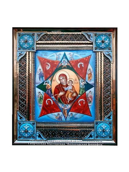 Икона финифть Неопалимая Купина - фото 21237