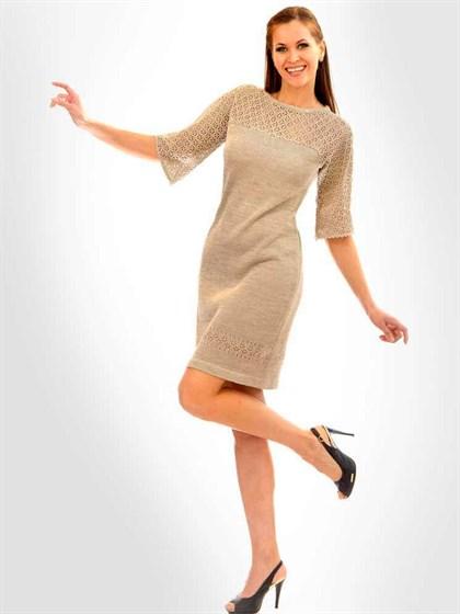 Платье трикотажное льняное - фото 21398