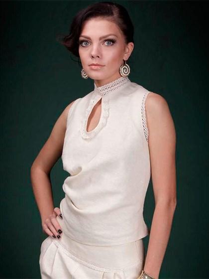 Блуза льняная - фото 21451