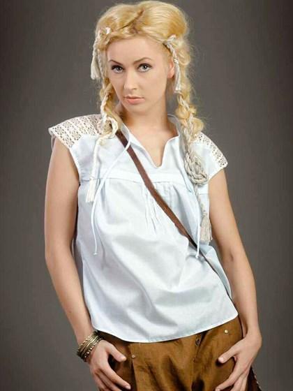 Блуза с кружевом - фото 21463