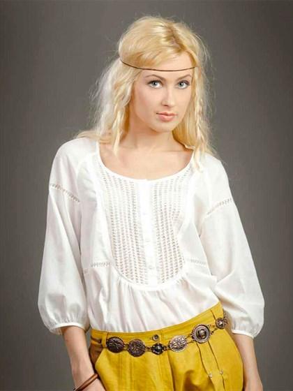 Блузка с кружевом - фото 21486