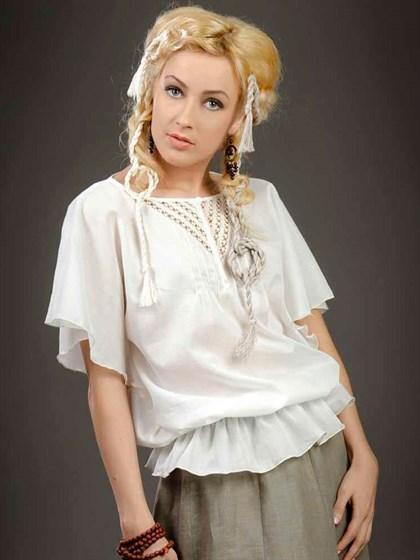 Блузка с кружевным декором - фото 21492