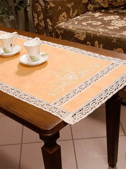 """Дорожка на стол из льна """"Светлая пасха"""" - фото 21702"""