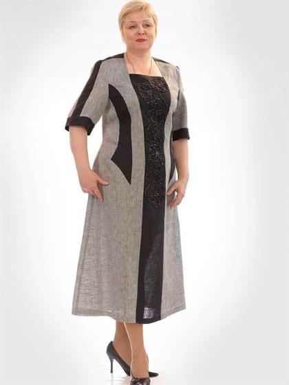 Платье льняное - фото 21747