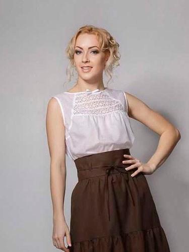 Блуза с кружевным декором - фото 21917