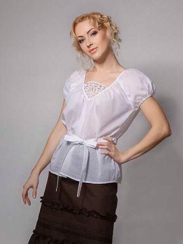 Блузка с кружевом - фото 21919