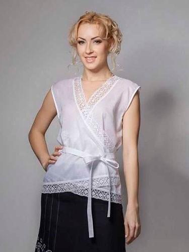 Блузка с кружевом - фото 21920